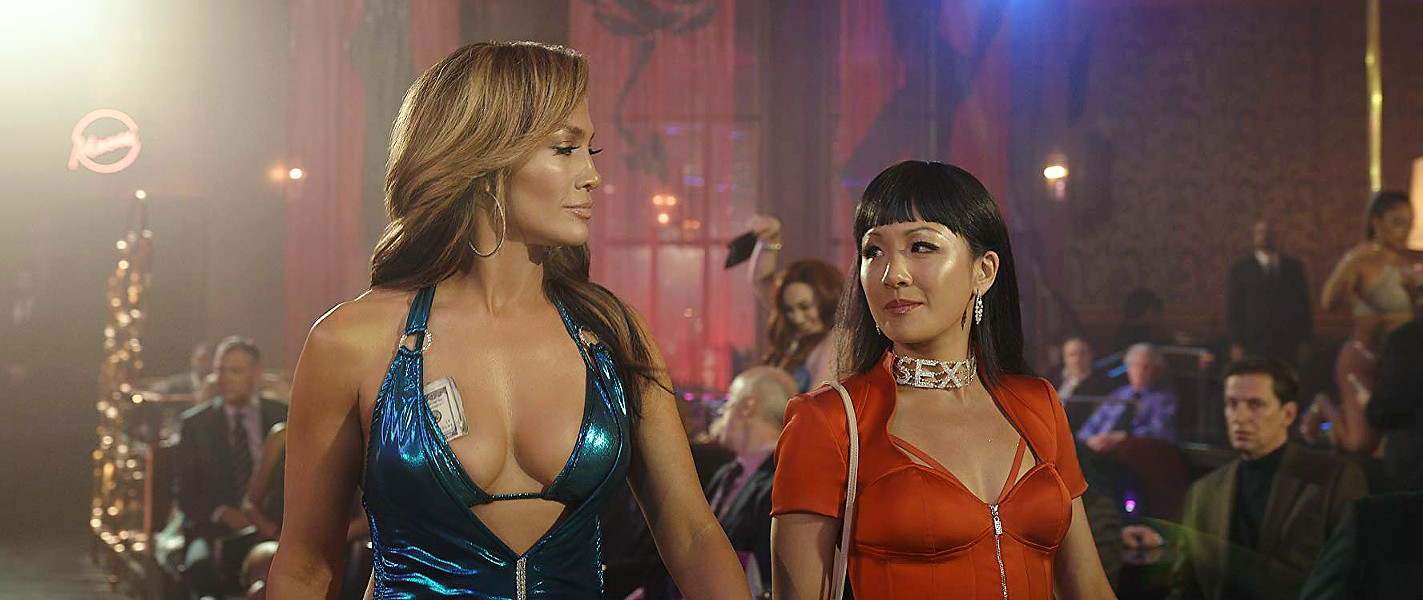 HUSTLE SISTERS Ramona (Jennifer Lopez, left) and Destiny (Constance Wu, right) were at the height of their dancing success, but they hadn't figured out the hustle until the 2008 economic crash. - PHOTOS COURTESY OF GLORIA SANCHEZ PRODUCTIONS