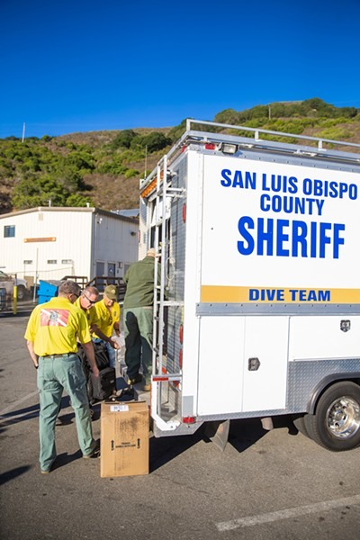 RECOVER Dive teams like SLO County's are an auxiliary service of sheriffs' departments and conduct search and recovery operations for victims or evidence in water bodies. - PHOTO BY JAYSON MELLOM