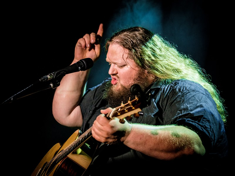 STUBBY FINGERS Amazing, bluesy Matt Andersen is one of three performers playing KCBX's Winter Oak Roots Rising! show on Nov. 15, at the Cuesta College Performing Arts Center. - PHOTO COURTESY OF MATT ANDERSEN
