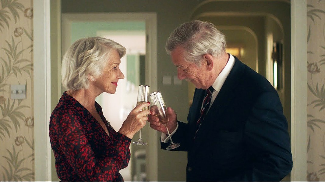LIES AND LOVE Conman Roy Courtnay (Ian McKellen, right) starts to fall for his mark, rich widow Betty McLeish (Helen Mirren), in The Good Liar. - PHOTO COURTESY OF NEW LINE CINEMA