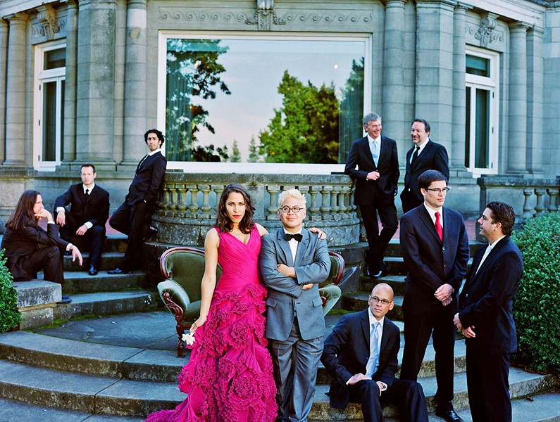 CLASSY Soak in the swank and sophisticated vibe of Pink Martini with China Forbes at the PAC on Dec. 4. - PHOTO COURTESY OF PINK MARTINI