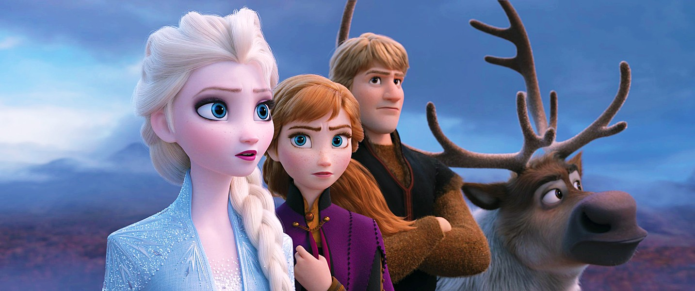 FRIENDSHIP ALWAYS WINS (Left to right) Elsa (Idena Menzel), Anna (Kristen Bell), Kristoff (Jonathan Groff), and Sven work together to help a mist-enshrouded forest regain its life. - PHOTOS COURTESY OF WALT DISNEY ANIMATION STUDIOS