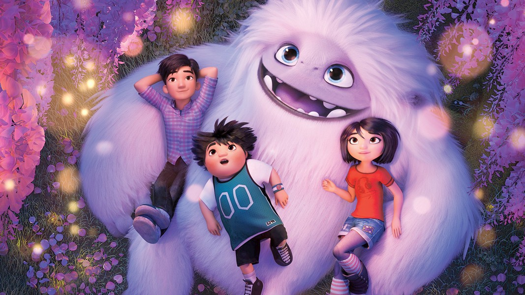 HEADING HOME A Yeti named Everest is helped home by three teens, in Abominable, screening for free at the Fremont Theater on Jan. 3. Free tickets available at Boo Boo Records and fremontslo.com. - PHOTO COURTESY OF DREAMWORKS ANIMATION