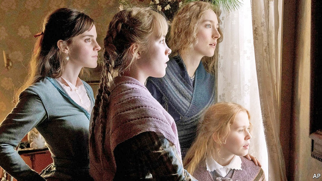 ENDURING SISTERHOOD Little Women follows the lives of four sisters—(left to right) Meg (Emma Watson), Amy (Florence Pugh), Jo (Saoirse Ronan), and Beth (Eliza Scanlen)—as they come of age in 1860s New England. - PHOTO COURTESY OF COLUMBIA PICTURES