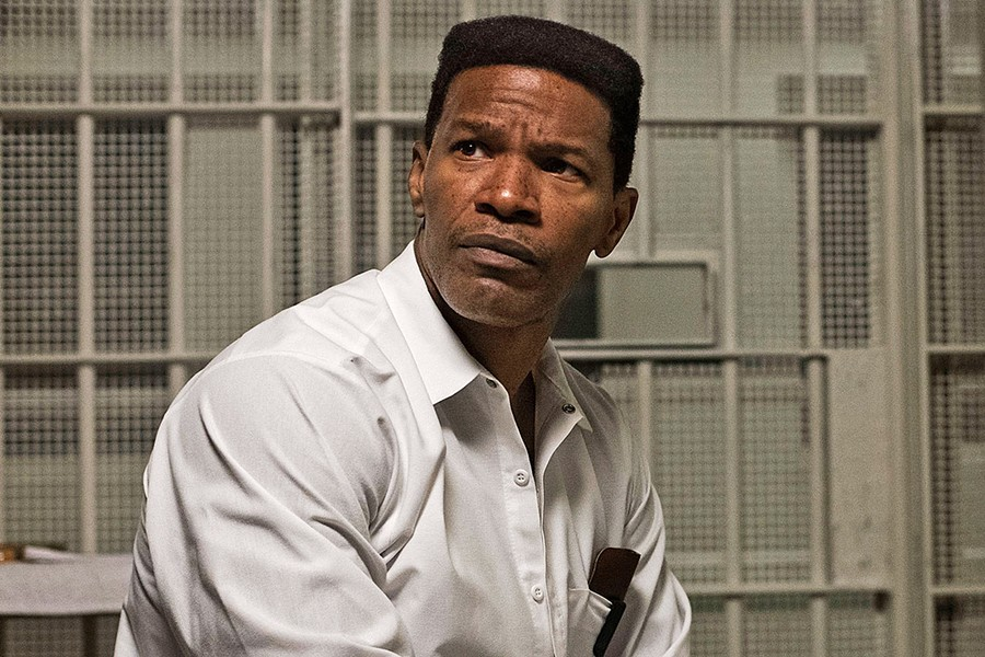 FINDING JUSTICE Just Mercy tells the true story of death row convict Walter McMillian (Jamie Foxx), who in 1987 was sentenced to die for a murder he didn't commit. - PHOTO COURTESY OF ENDEAVOR CONTENT
