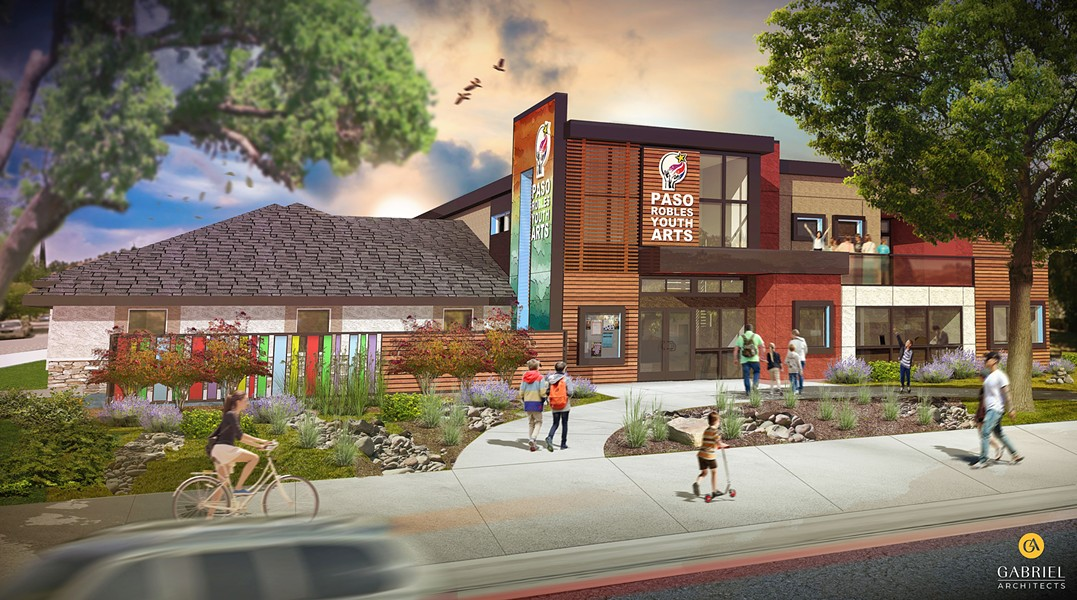 NEW FACILITY The Paso Robles Youth Art Foundation's planned expansion (rendered here) would allow it to increase enrollment and offer new enrichment classes of all kinds. - RENDERING COURTESY OF GABRIEL ARCHITECTS