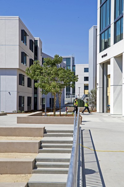 DECISIONS Prospective students will soon be able to take virtual tours of Cal Poly's campus to learn about the university's offerings, such as the recently constructed residential community. - PHOTO BY JAYSOM MELLOM