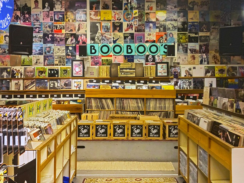 QUARAN-TUNES Boo Boo Records owner Mike White is keeping his record store running by going entirely digital during the COVID-19 pandemic. - FILE PHOTO COURTESY OF BOO BOO RECORDS