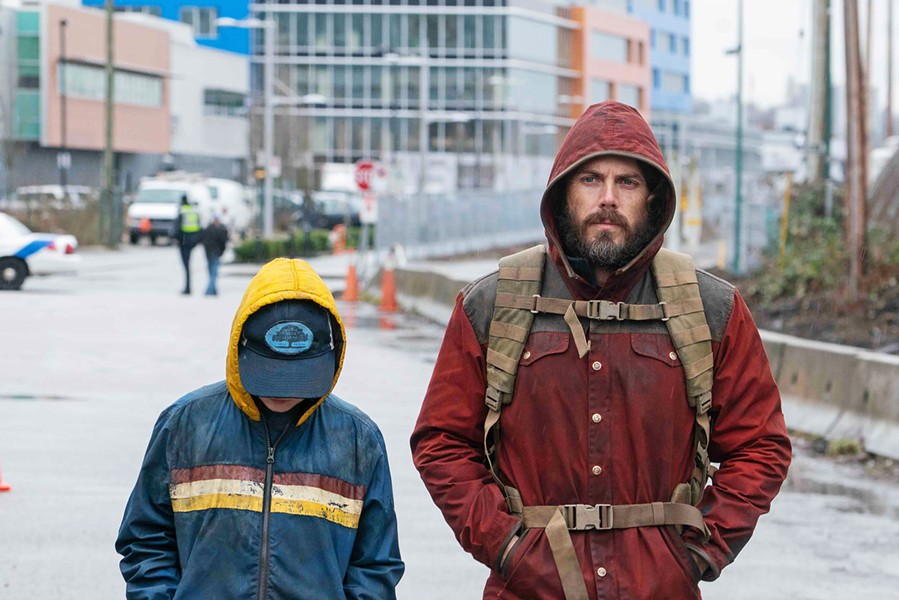 PATERNAL LOVE Rag (Anna Pniowsky, left) and her dad (writer-director Casey Affleck) try to survive in a dangerous world where half the population died a decade earlier, in Light of My Life. - PHOTO COURTESY OF BLACK BEAR PICTURES