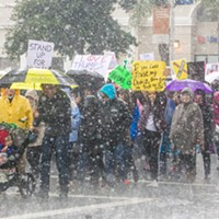 Remembering SLO's Women's March On Jan. 21, 2017, thousands participated in Woman's March, despite the cold and rainy weather conditions. FILE PHOTO BY JAYSON MELLOM