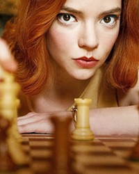KILLER QUEEN Anya Taylor-Joy stars as orphaned chess prodigy Beth Harmon, whose keen mind makes her a world-class player but also causes her torment, in The Queen's Gambit, on Netflix.
