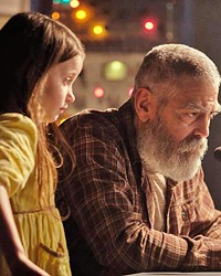 FINAL ACT Terminally ill scientist Dr. Augustine Lofthouse (George Clooney, who also directs), works to contact a spacecraft returning to a doomed Earth while caring for Iris (Caoilinn Springall), a little girl left behind from an evacuation, in The Midnight Sky, streaming on Netflix.
