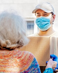 A NEW KIND OF SUPPORT In pre-pandemic times, volunteers at nonprofits like Wilshire Health and Community Services provided transportation and emotional support services to homebound seniors in SLO and Santa Barbara counties.
