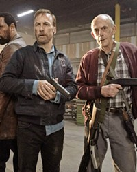 OLD GUYS RULE (Left to right) Harry (RZA), Hutch (Bob Odenkirk), and David (Christopher Lloyd)—a family of retired assassins—resurface to take down the Russian mob, in Nobody, in theaters now.