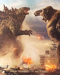 KAIJU THROWDOWN A giant lizard battles a giant ape in Godzilla vs. Kong, but we all know the real villain is humanity.