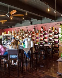 SIPPING TIME Head over to Morro Bay if you want to visit the Best Wine Bar in SLO County—STAX Wine Bar and Bistro.