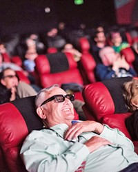 IN-PERSON EXPERIENCE In 2019, SLOIFF attendees caught a 3D film at Downtown Centre Cinemas: The movie experience.