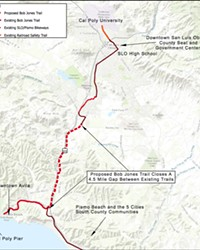 COMPLETING THE TRAIL After receiving a state transportation grant worth $18.2 million, SLO County is closer than ever to completing the 4.4-mile extension of the Bob Jones Trail.