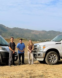 DREAM TEAM Central Coast Veterinary Services, which is one of SLO County's only full-time mobile vet practices, is growing. Founder Dr. Raffy Dorian (center) added two new vets to his team: Dr. Daniel Gutman (left) and Dr. Molly McElrath (right).
