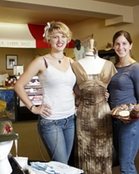 SISTER ACT :  Morgan (right) and Rhiannon Mistretta have something for sweet teeth and fashion bugs at their Morro Bay location, Romanza Apparel and Sweet Shoppe.