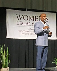 MAN TO MAN Ted Bunch brought his talk of promoting healthy and respectful manhood to the Women's Legacy Fund Luncheon.