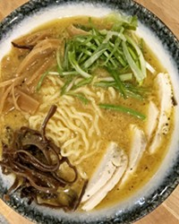 RAMEN ON THE BRAIN Choose a rich broth flavor (chicken, miso, pork, veggie, or kimchi) and load on the toppings, including sliced pork, chicken leg, bamboo shoots, green onion, hardboiled egg, wontons, fish cake, mushrooms, and more.