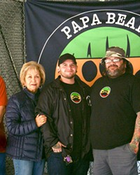 """FAMILY BUSINESS Alfred Castaneda, Irene Castaneda, Shay Zepeda, Andy """"Papa Bear"""" Zepeda, and Rachel Salerno are getting ready to start Papa Bear's Fine Cannabis and Better Living Delivery in SLO County."""