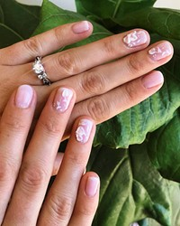 LITTLE DETAILS Whatever a bride desires for her nail set can be made possible by the creative nail technicians of Pinkies Up.