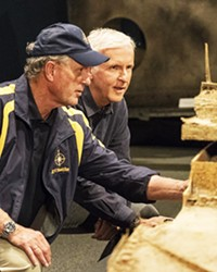 EXPLORERS EXTRAORDINAIRE In Titanic: 20 Years Later with James Cameron, Ocean explorer Robert Ballard (left) and fellow explorer and film director James Cameron (right) revisit new findings from the sunken ship.