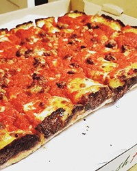 FIVE POUNDS OF CULINARY BLISS If you want a Detroit-style pizza, Benny's Pizza is the place, but acquiring one is no easy task.
