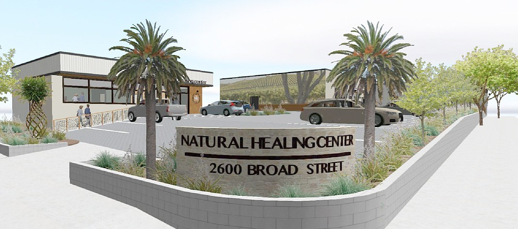 IN CHARGE Helios Dayspring is still the manager of Natural Healing Center after a judge denied an investor's motion to remove him from his position. - RENDERING COURTESY OF THE CITY OF SLO
