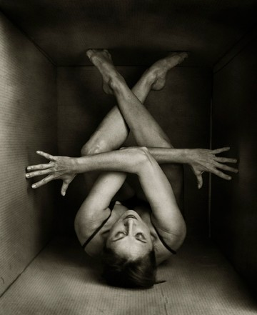 JACKIE IN A BOX :  This photograph of Civic Ballet dancer Jackie Lee will be featured in the Open Studios tour. - PHOTO BY BARRY GOYETTE