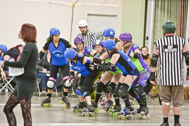 BROAD ST. BRAWLERS VS. BAKERSFIELD ROLLERGIRLS: - PHOTO BY STEVE E. MILLER