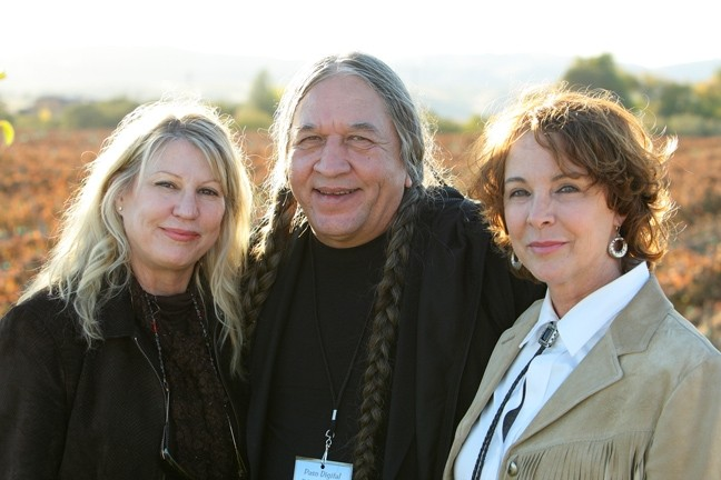 THE BEAUTIFUL PEOPLE :  (Left to right) Dr. Lois Lee caught the Hillside Strangler, former Ponca Nation Indian Chief Dan Jones worked with Kevin Costner on 500 Nations, and I'm in love with Kathleen Quinlan—and not just because she danced naked in Oliver Stone's The Doors. - PHOTO BY STEVE E. MILLER