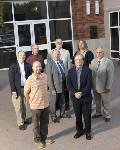 PASO ROBLES :  Four candidates are running for mayor and five candidates are running for two seats on the city council. Front row left to right: Don Fransen, Fred Strong, John Borst. Back row, left to right: Gary Nemeth, Nick Gilman, Ed Steinbeck, Jim Norman, Dwayne Pic - PHOTO BY STEVE E MILLER
