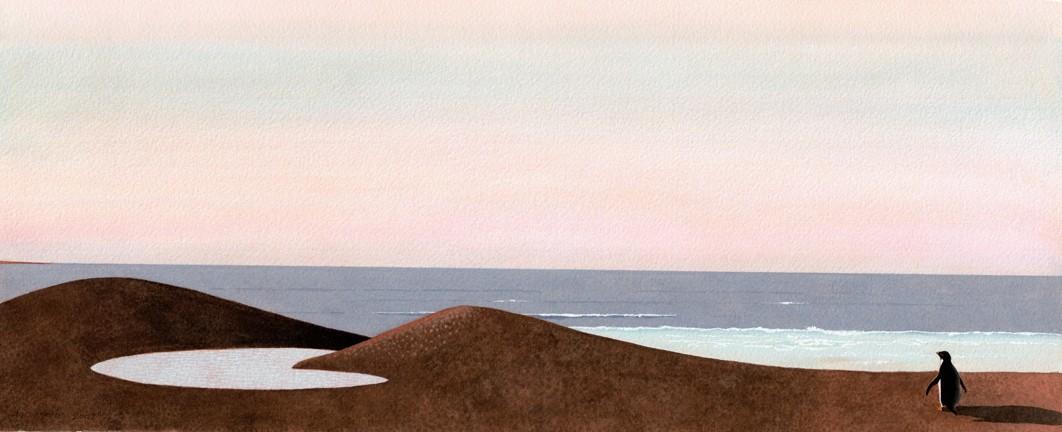 THE LAST PENGUIN :  By Helen K. Davie - IMAGE BY HELEN K. DAVIE