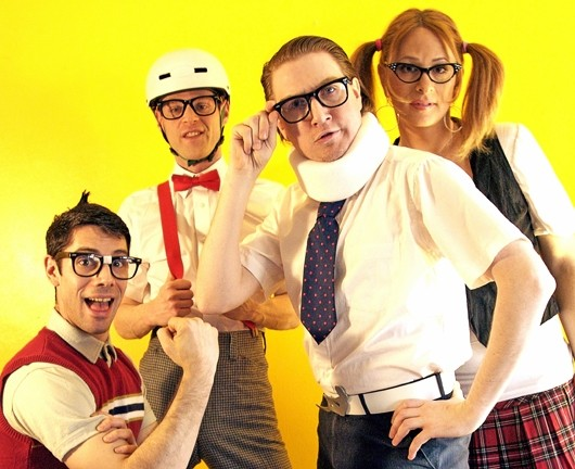 REVENGE OF THE NERDS:  Dorks rule on Dec. 10 when The Spazmatics offer a retro evening of '80s music at SLO Brew. - PHOTO COURTESY OF THE SPAZMATICS