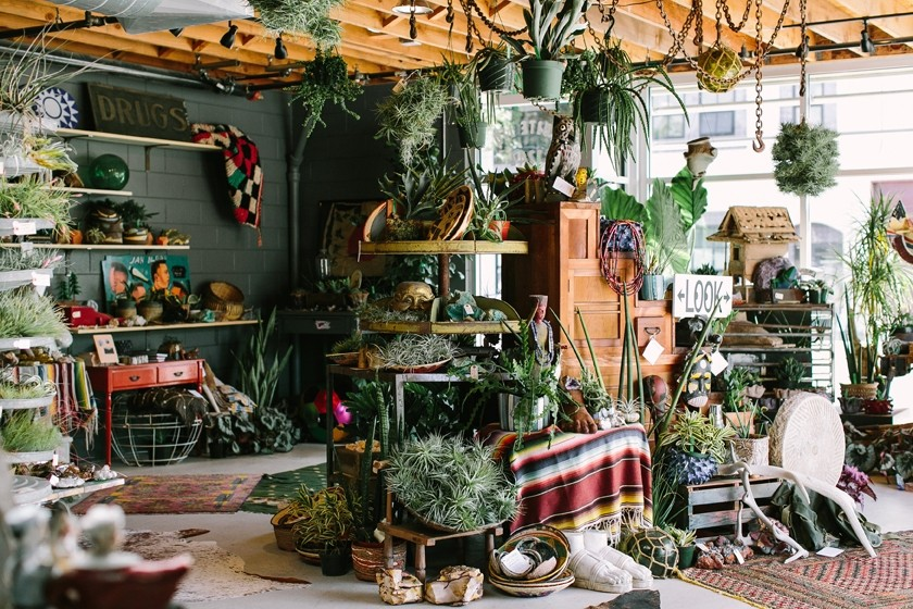 POTTED POTPOURRI:  Left Field features a multitude of tribal rugs, pots, and decorative masks. - PHOTO COURTESY OF JENNIFER YOUNG