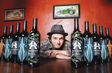 BOTTLES SINCE BOYHOOD:  Brian Benson grew up around wine, and now releases vintages through his Brian Benson Cellars. - PHOTO BY STEVE E. MILLER