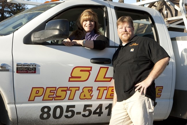 "FAMILY KNOWS PEST:  John ""Colorado"" Vergeldt and his wife, Patty, are co-owners of SLO Pest and Termite, an independent pest-control business that they operate out of their Santa Margarita home. - PHOTO BY STEVE E. MILLER"