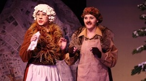 DAM IT! :  Allison Warren and Lauren Romero are Mr. and Mrs. Beaver, a talking animal couple, in The Lion, the Witch, and the Wardrobe. - PHOTO COURTESY OF THE ACADEMY OF CREATIVE THEATER