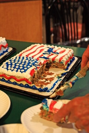 THE CAKE IS A LIE :  When there's nothing left to say, at least there's America cake. - PHOTO BY COLIN RIGLEY