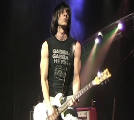 "HEY, HO, LET'S GO! :  ""Huey"" (Chris Lord) assumes Dee Dee Ramone's role in the Ramones tribute act, Gabba Gabba Hey, playing Sept. 18 at the Z-Club. - PHOTO COURTESY OF GABBA GABBA HEY"