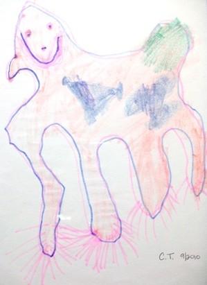 UNICORN! :  Chiara Thomas, age 4, donated her image of a unicorn. - IMAGES COURTESY OF SALON 544