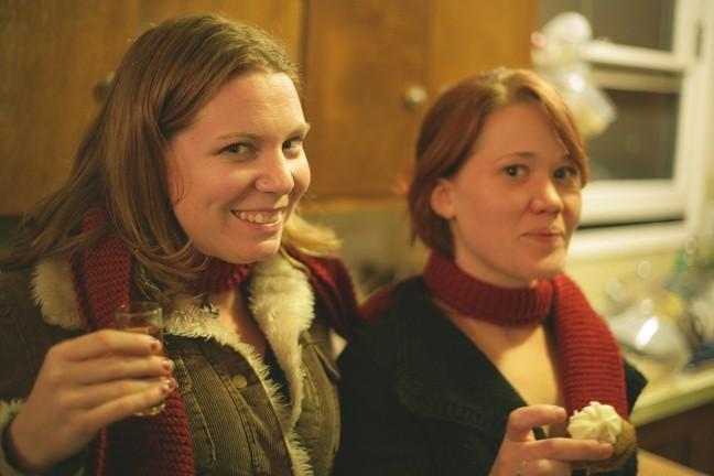 BFF! :  Best friends forever Jenny Bierbaum and Anna Robertshaw hold down the kitchen floor. - PHOTO BY GLEN STARKEY