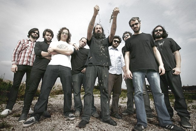 HOT, NASTY, AND AWESOME! :  The Budos band brings its Afro rock, psychedelic doom-rock, and nu soul to Downtown Brew on Aug. 14. - PHOTO BY KISHA BARI