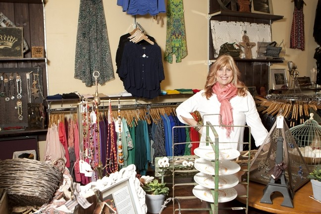 HOME AND BODY :  At the newly opened Luxe Boutique, owner Lynda Beshwate has a variety of women's wear and housewares to adorn your home and body. - PHOTO BY STEVE E. MILLER