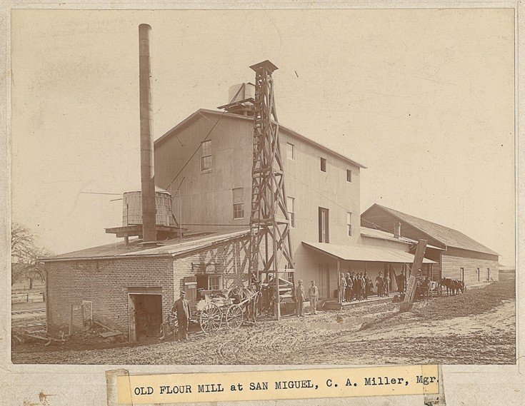 CUTLINE :  The San Miguel Flour Mill remains in operation today, but it played an important role in the power struggle between the railroad and the Farmer's Alliance in the late nineteenth century. - PHOTO COURTESY OF THE SLO COUNTY HISTORICAL SOCIETY
