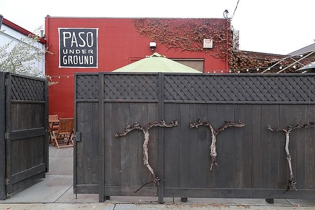 HIDDEN HIDEAWAY:  From the outside, Paso Underground looks a tad mysterious. The collective's small-batch winemaking residents like it that way. - PHOTO BY DYLAN HONEA-BAUMANN