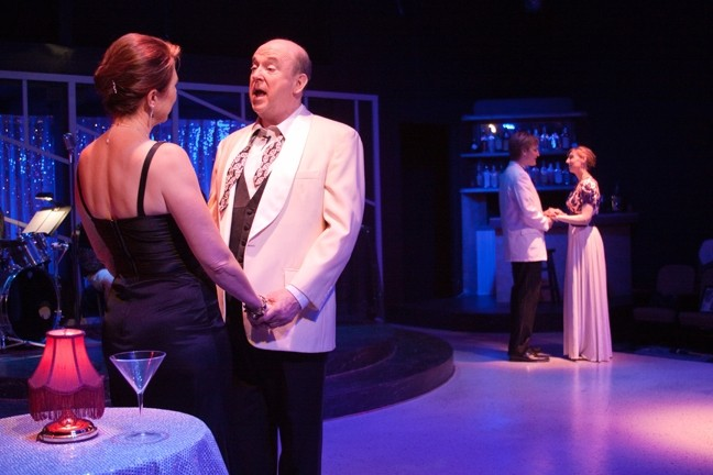I ONLY HAVE EYES FOR YOU :  Suzy Newman, John Laird, Aryton Parham, and Danielle Dutro (left to right) pay tribute to Frank Sinatra in My Way. - PHOTO COURTESY OF THE SLO LITTLE THEATRE